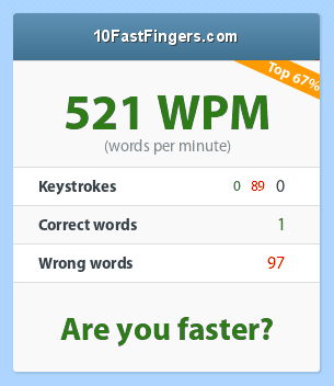 IMG:http://10fastfingers.com/speedtests/generate_screenshot_result/104_521_0_0_89_1_97.95_67_3268