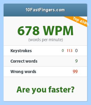 Testez votre vitesse de frappe au clavier ! ;) - Page 2 124_678_0_0_113_9_99