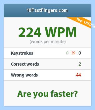 Testez votre vitesse de frappe au clavier ! ;) - Page 2 43_224_0_0_39_2_44