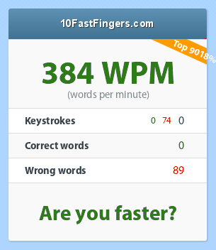 Typing test. Test your skills here! 77_384_0_0_74_0_89