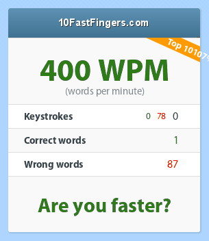how fast do you type? 79_400_0_0_78_1_87